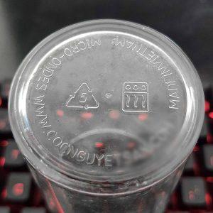 Biểu tượng tái chế và nhiệt độ cao